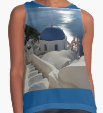 Stairway to Blue Domed Church Contrast Tank