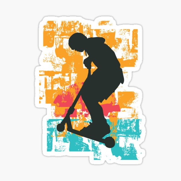Scooter rétro Sticker