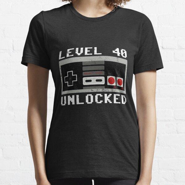 Level 40 unlocked -Vintage 1981 - 40th Birthday Gift For Men T-shirt Essential T-Shirt