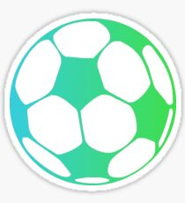 Fade Soccer Ball (Blue & Green) Sticker