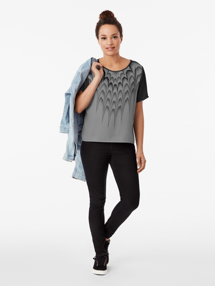 Alternate view of Queen of Tribal 1 Chiffon Top