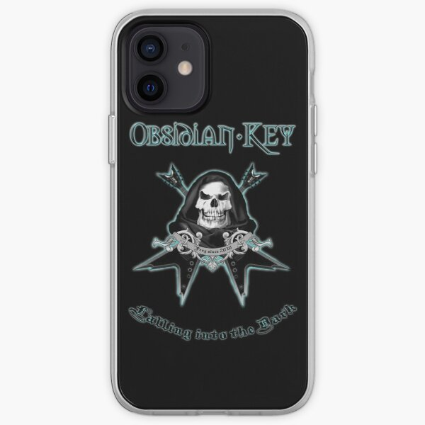 Obsidian Key - Falling Into The Dark - Skull, Guitars iPhone Soft Case