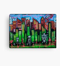 Robo World - City of Secrets Canvas Print