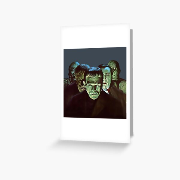 Gang of Monsters  Greeting Card