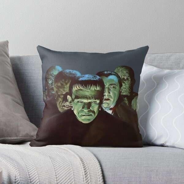 Gang of Monsters  Throw Pillow
