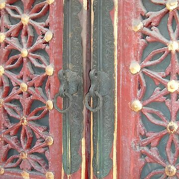 A Gate in The Forbidden City in Beijing by teaguy