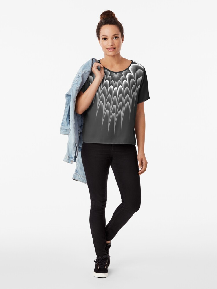 Alternate view of Queen of Tribal 3 Chiffon Top