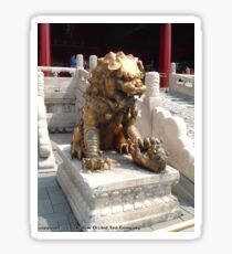 Bronze lion in The Forbidden City Sticker