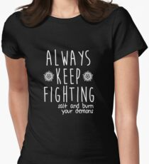 Always Keep Fighting Women's Fitted T-Shirt
