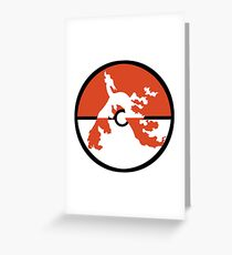 Red Fire Bird Greeting Card