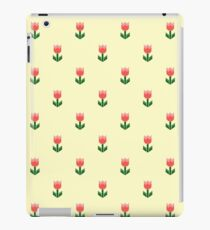 Red And Green Spring Tulip Flowers iPad Case/Skin