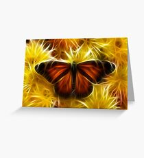 Butterfly on Flowers (soft) Greeting Card