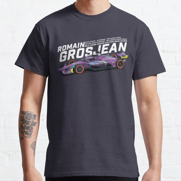 Romain Grosjean 2021 (white on purple) Classic T-Shirt