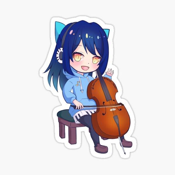 Cello Annie Sticker