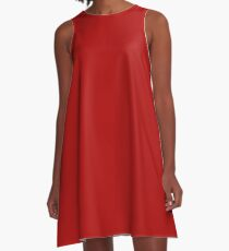 Solid Red Mini Skirt - Plain Red Leggings T-shirt A-Line Dress