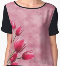 Pink Tulips Women's Chiffon Top