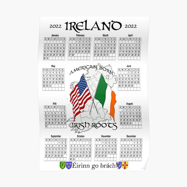 Irish Calendar 2022 - Ireland American Poster
