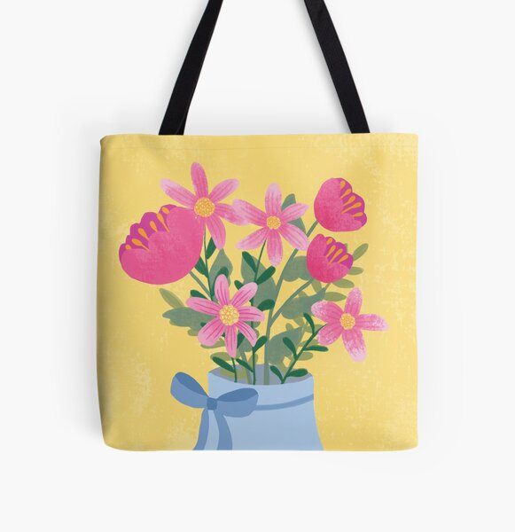 Mother's Day bouquet painting  All Over Print Tote Bag
