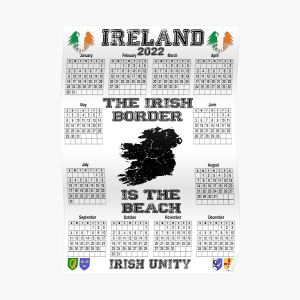 Irish Calendar 2022 - Ireland Border Poster
