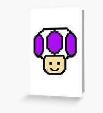 Pixel Purple Toad Greeting Card