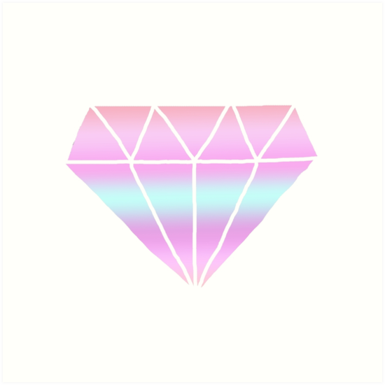 quottumblr style pastel diamondquot art prints by poppetini