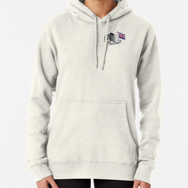 Triumph Shield with Checkered Racing and British Flag Pullover Hoodie