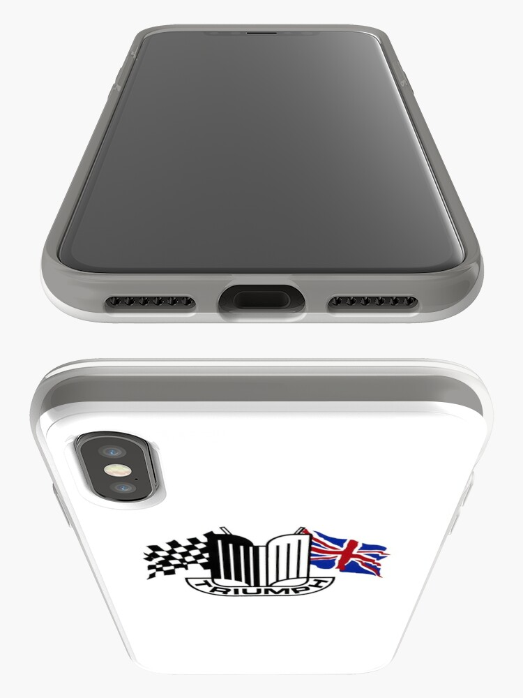 Alternate view of Triumph Shield with Checkered Racing and British Flag iPhone Case & Cover
