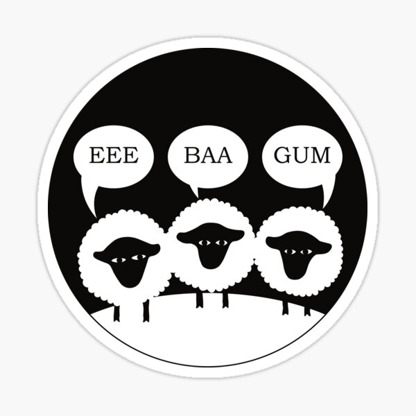 Eee Baa Gum Yorkshire Sheep Sticker