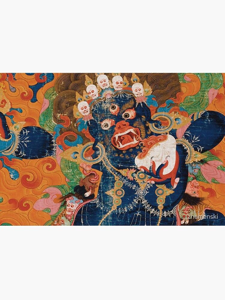 Asian Heritage - Yama, King of Hell, King Yan, Yanluo, dharmapala, wrathful god by znamenski