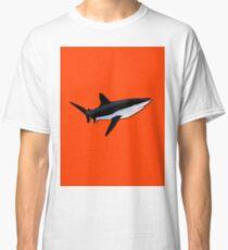 Bright Fluorescent Shark Attack Orange Neon Classic T-Shirt