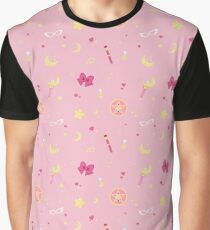 Sailor Moon Pattern Graphic T-Shirt