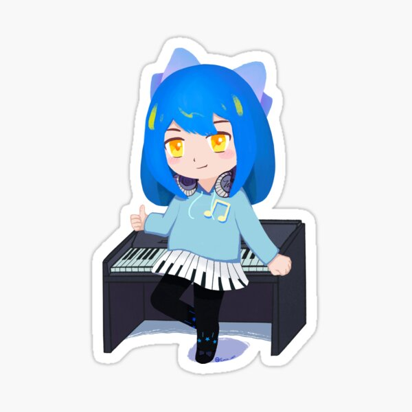 Piano Annie Sticker