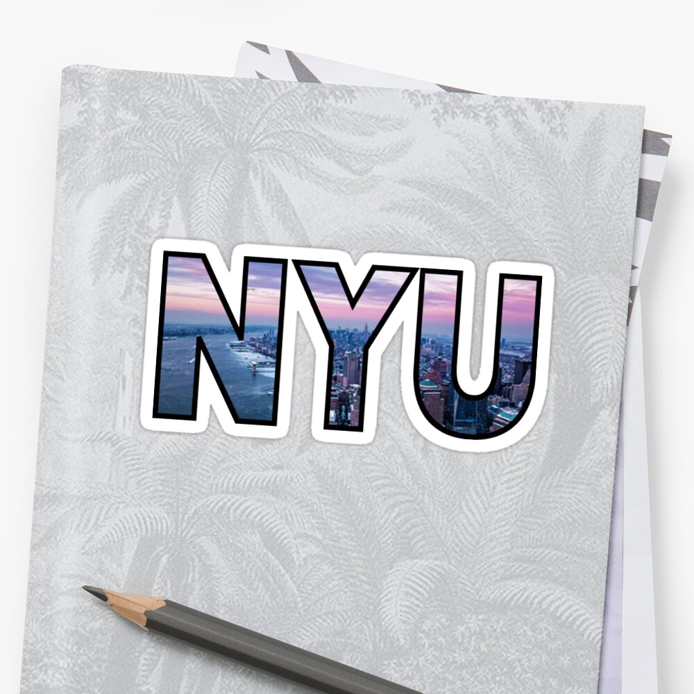 NYU New York Skyline Pegatina