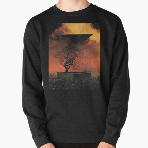Untitled, by Zdzisław Beksiński Pullover Sweatshirt