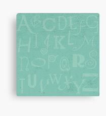Mint Alphabet Canvas Print