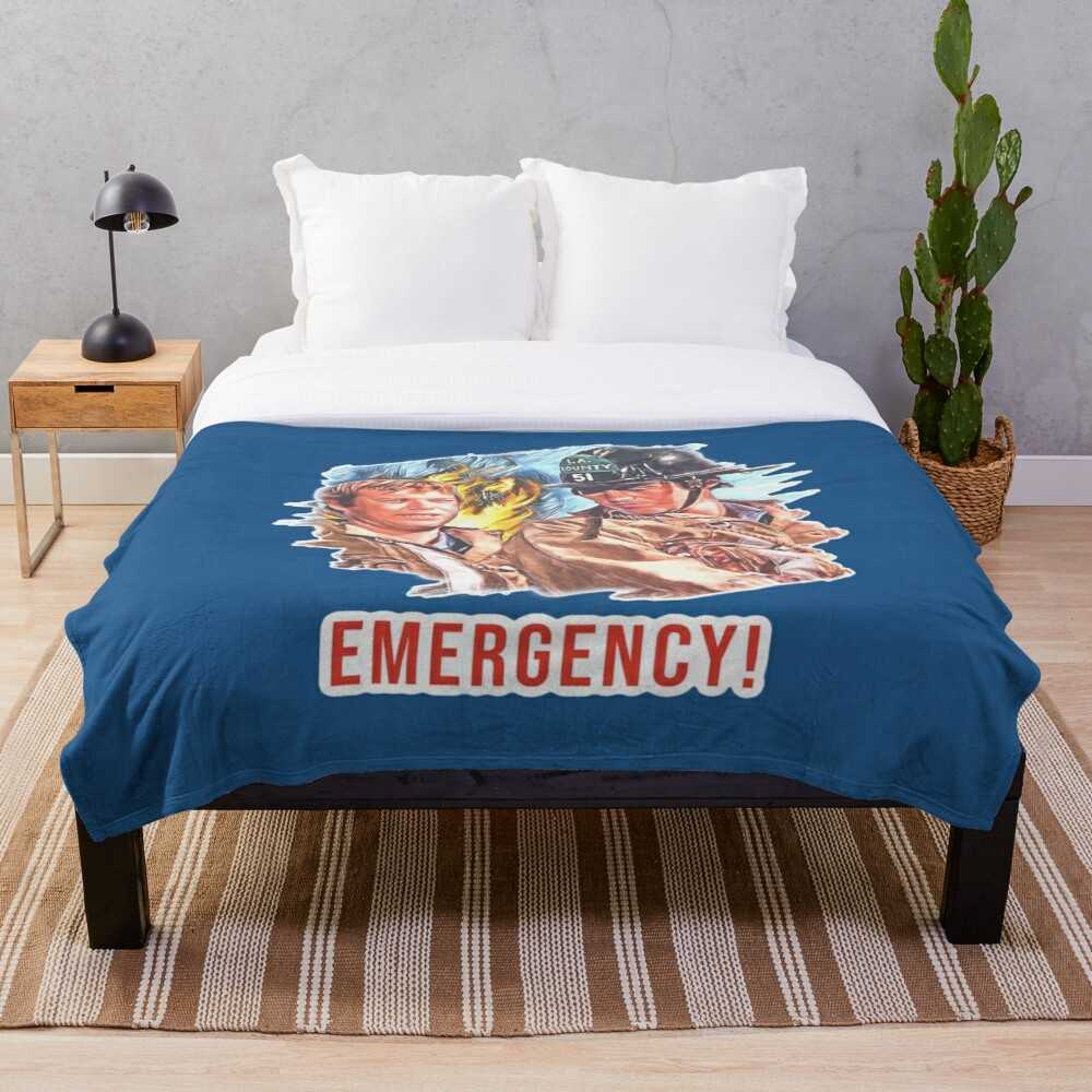 Emergency TV Show DeSoto and Gage Throw Blanket