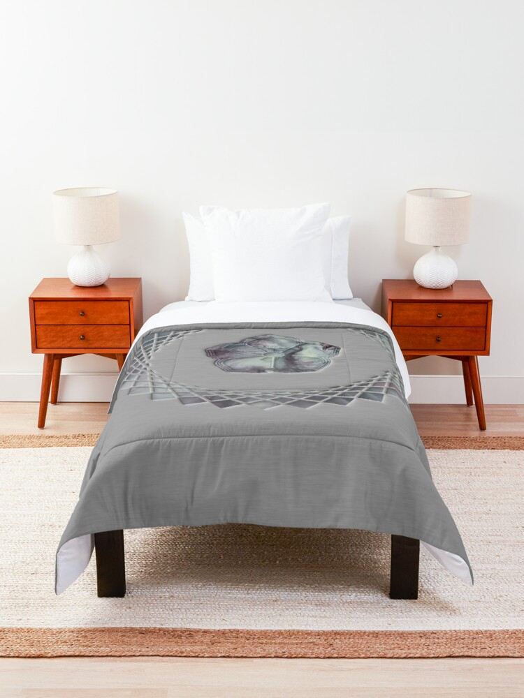 Alternate view of Tranquility; cherry blossom Comforter