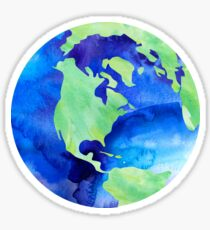 Aquarell Welt Sticker