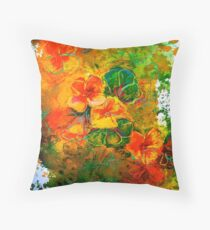Design...Nasturtium Throw Pillow
