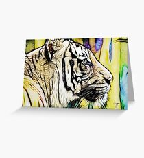 Tiger numero quatro Greeting Card