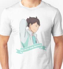 Camiseta ajustada Haikyuu !! ¿Eres mi madre Iwa-chan? (Oikawa Tooru)