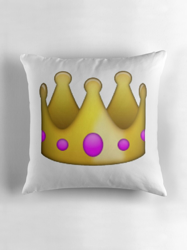 Quot Crown Emoji Quot Throw Pillows By Chloehebert Redbubble