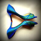 Peacock blue heels  by norakaren