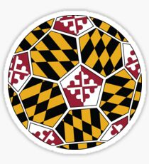Maryland Soccer Ball Sticker