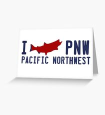 Pacific Northwest Fishing. Greeting Card