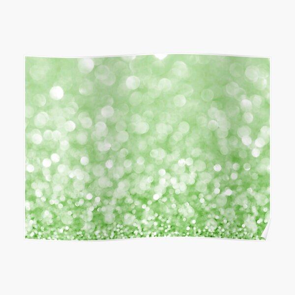Grass Green Glitter Poster