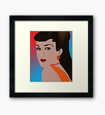 Thoughtful Woman Framed Print