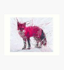 Pink Fox [Straight Lines] Art Print
