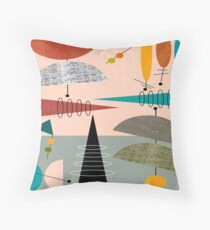 Mid-Century Modern Abstract #59 Throw Pillow