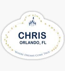 Chris From Orlando Sticker